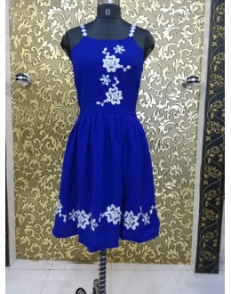 Bollywood Replica - Alia Bhatt In Ready Made Blue Kurti  - ALIA-02