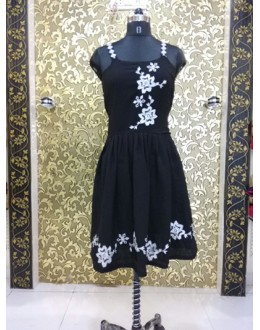 Bollywood Replica - Alia Bhatt In Ready Made Black Kurti  - ALIA-03