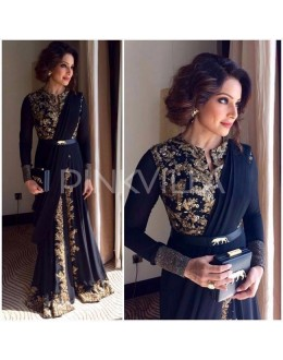 Bollywood Replica - Bipasha Basu In Designer Dark Blue Slit Anarkali Suit- B01