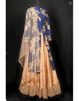 Bollywood Replica - Party Wear Bluue & Beige Lehenga Suit - BC01