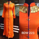 Bollywood Inspired - Ready-Made Designer Orange Long Kurti - BDW223-4
