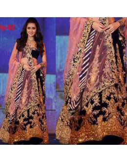 Bollywood Replica - Shraddha Kapoor In Pure Viscose Velvet Lehenga Choli - Bolly-62