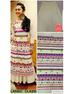 Bollywood Replica - Rakul Preet In Designer Silk Lehenga Suit - Bonanza