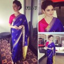 Bollywood Replica - Tamanna Bhatia In Designer Blue Silk Saree - FB-7