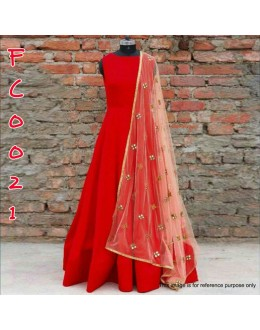 Bollywood Replica - Designer Glamorous Red Anarkali Suit - FC0021