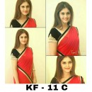 Bollywood Replica - Party Wear Red Georgette Saree - KF-11 C