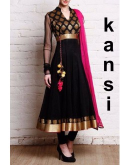 Bollywood Replica - Party Wear Black Georgette Anarkali Suit - KANSI
