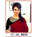 Bollywood Replica - Divyanka Triphati In Red Chanderi Cotton Saree - MF-10-Red