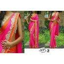 Bollywood Replica - Wedding Wear Pink Chiffon Saree - MF-2