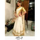 Jacqueline Fernandez In Designer Chanderi Cotton Saree - MF-7