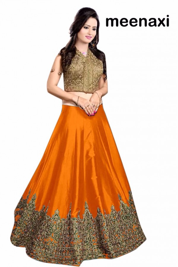 Bollywood Replica - Wedding Wear Orange & Golden Lehenga Choli - M01