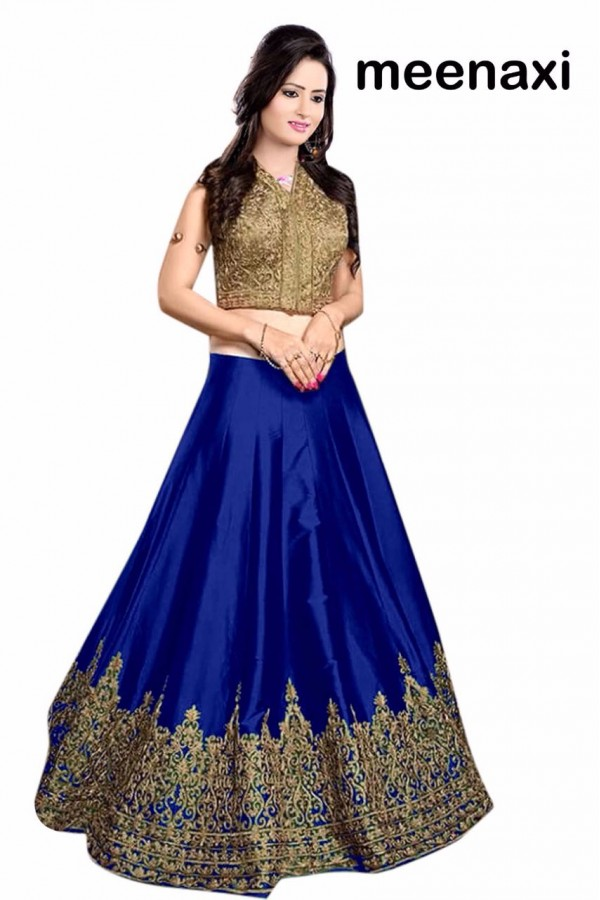 Bollywood Replica - Wedding Wear Blue & Golden Lehenga Choli - M07