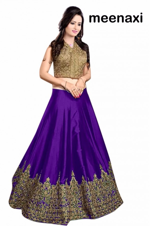 Bollywood Replica - Wedding Wear Purple & Golden Lehenga Choli - M08