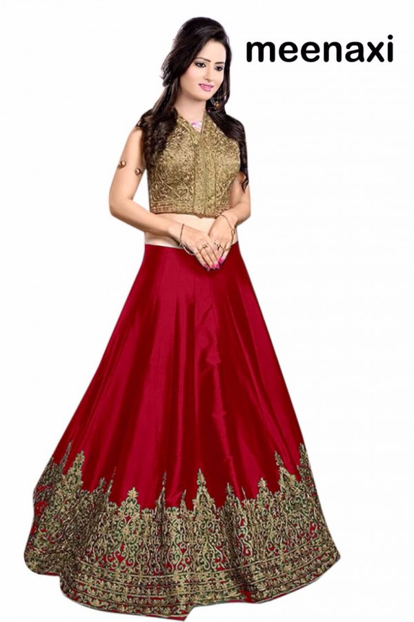 Bollywood Replica - Wedding Wear Red & Golden Lehenga Choli - M02
