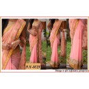 Bollywood Replica - Designer Peachish Pink Half & Half Saree - PN-1021