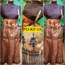 Bollywood Inspired - Designer Digital Printed Beige & Black Silk Kurti - PO-KP-13