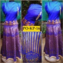 Bollywood Inspired - Designer Digital Printed Beige & Blue Silk Kurti - PO-KP-16