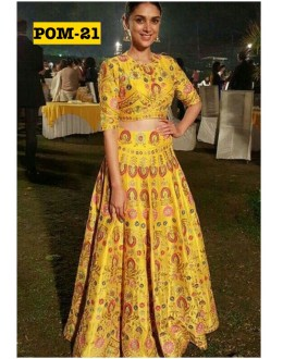 Bollywood Replica - Aditi Rao In Printed Silk Lehenga Choli - POM-21