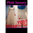 Bollywood Replica - Wedding Wear Cream & Red Anarkali Suit - PINK BEAUTY-B