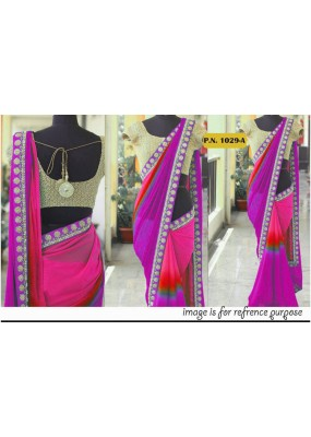 Bollywood Replica - Wedding Wear Multi-Colour Georgette Saree - PN-1029-A