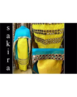 Bollywood Replica - Designer Yellow & Blue Salwar Suit - Sakira