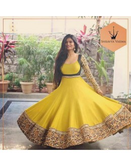 Bollywood Replica - Shravya Verma Designer Yellow Anarkali Suit - SV