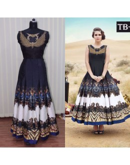 Bollywood Replica - Party Wear Multi-Colour Banglori Silk Anarkali Gown - TB-6