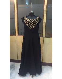 Bollywood Replica - Readymade Black Georgette Party Wear Gown - VS053