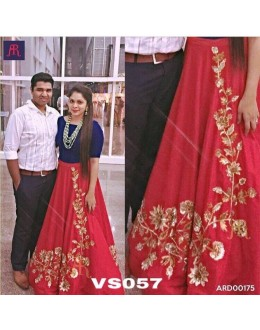 Bollywood Replica - Designer Heavy Red & Blue Lehenga Choli  - VS057