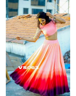 Bollywood Replica - Designer Multi-Colour Shaded Lehenga Choli  - VS063