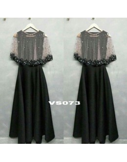 Bollywood Style - Ready To Wear Fancy Black Gown - VS073