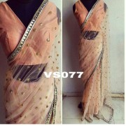 Bollywood Inspired - Wedding Wear Orange Net Saree - VS077