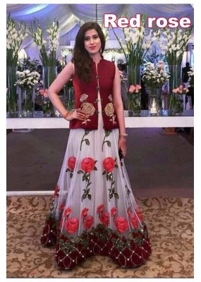 Bollywood Replica - Wedding Wear Red Rose Lehenga Choli -  Red Rose