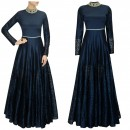 Bollywood Replica- Designer Blue Raw Silk Party Wear Gown - G1