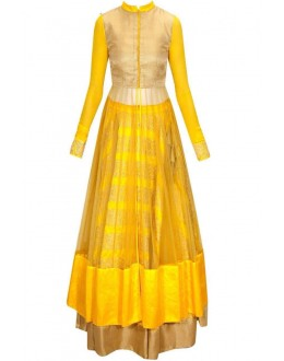 Bollywood Replica - Designer Mustard Yellow Anarklai Suit - Po102