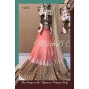 Bollywood Replica - Designer Peach & White Banglori Silk Lehenga Choli - 7272