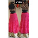 Bollywood Replica - Designer Pink & Black Russell Net Lehenga Choli  - GF-1203