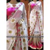 Bollywood Replica - Designer White Embroidered Saree - KT-3014