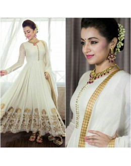 Bollywood Replica - Designer White Georgette Anarkali Suit - W01