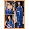 Bollywood Replica - Esha Gupta Designer Blue Net  Saree - 1591