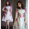 Bollywood Replica - Kajal Agarwal Off-White Georgette Party Wear Kurti -  Rainbow