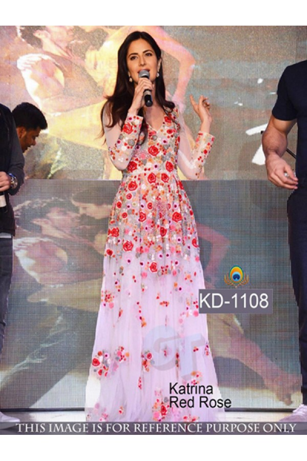 Bollywood Replica- Katrina Kaif Designer Net Party Wear Gown - KD-1108