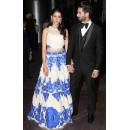 Bollywood Replica - Mira Rajput Designer Blue & White Lehenga Choli - MR1