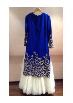 Bollywood Replica - Party Wear Blue & White Top With Lehenga - 06