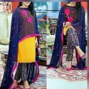 Bollywood Replica - Party Wear Yellow & Blue Salwar Suit - 3551