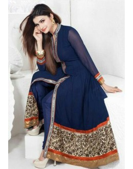 Bollywood Replica - Prachi Desia  Blue Net Anarkali Suit - Sagar