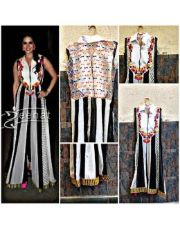 Bollywood Replica - Sunny Leone in White Georgette Kurti - S01
