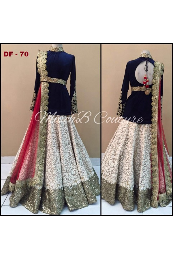Bollywood Replica - Wedding Wear Cream Lehenga Choli - DF-70