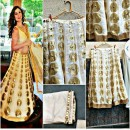Bollywood Replica -  Wedding Wear Golden & Off-White Lehenga Choli  - 60