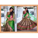 Bollywood Replica - Wedding Wear Green & Coffee Color Lehenga Choli   - 6048